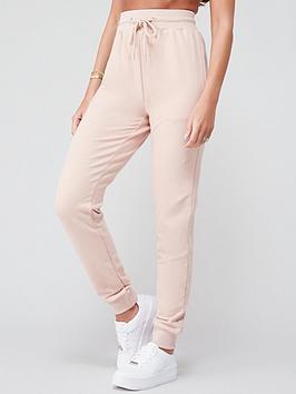 michelle-keegan-minimal-jersey-jogger-blush