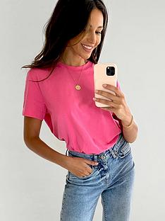 michelle-keegan-minimals-short-sleeve-t-shirt-blush