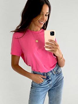 michelle-keegan-minimals-short-sleeve-t-shirt-blush