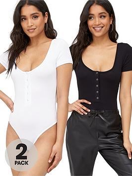 Missguided Missguided Missguided Popper Short Sleeve Bodysuit 2-Pack -  ... Picture
