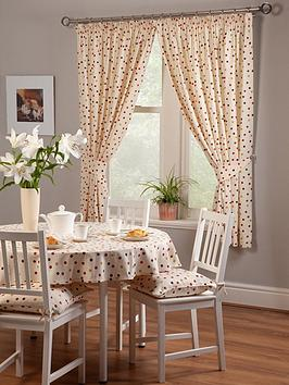 Very Polly Polka 3-Inch Pleated Curtains Picture