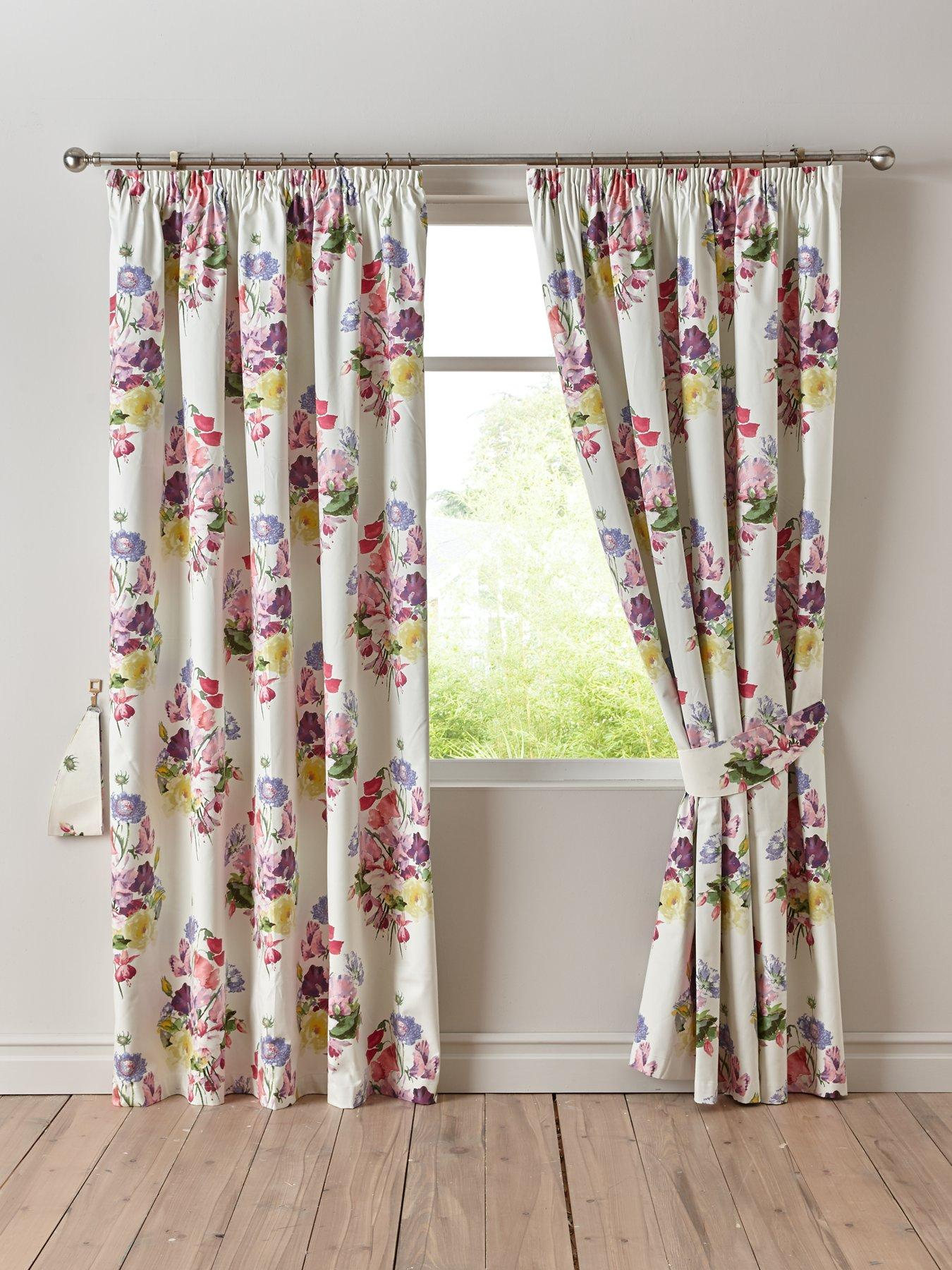 Ready Steady Bed/® Galaxy Design Childrens 66 x 72 Curtain Pair with Tie Backs