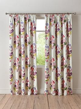 Very Wendy Tait Bouquet Blackout 3-Inch Pleated Curtains Picture