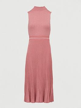 V by Very V By Very High Neck Knitted Pencil Dress - Blush Picture