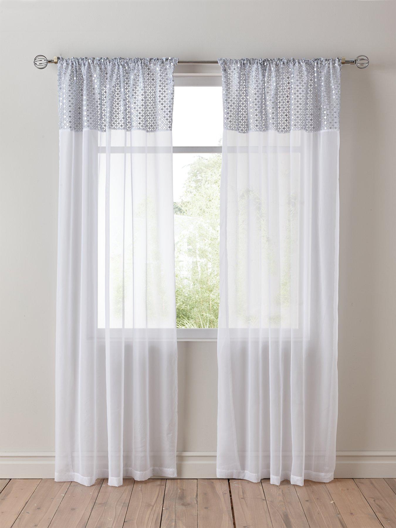 SALE SALE Frozen Pink Voile Net Curtain 150 cm width x 260 cm drop