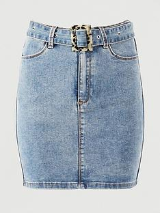 missguided-missguided-feature-buckle-belt-stretch-denim-skirt-blue