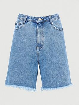 missguided-missguidednbsplongline-denim-shorts-light-wash