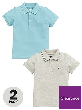 v-by-very-boys-2-pack-core-polo-shirts-blue