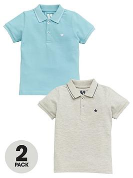 V by Very V By Very Boys 2 Pack Core Polo Shirts - Blue Picture