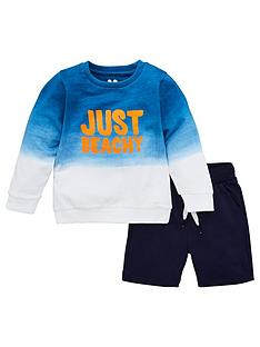 v-by-very-boys-2-piece-ombre-sweatshirt-and-shorts-set-blue
