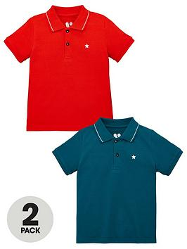 V by Very V By Very Boys 2 Pack Polo Shirts - Multi Picture