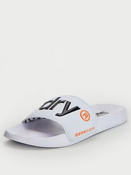 Superdry Superdry Classic Pool Sliders - White Picture