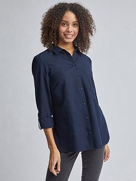 Dorothy Perkins Dorothy Perkins Dorothy Perkins Linen Shirt - Navy Picture