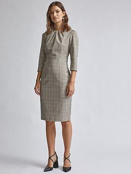 Dorothy Perkins Dorothy Perkins Check High Neck Dress - Multi Picture