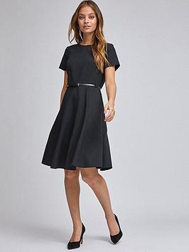Dorothy Perkins Petite Belted Dress - Black