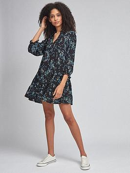 Dorothy Perkins Dorothy Perkins Floral Tunic Top - Blue Picture