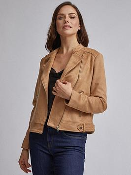 Dorothy Perkins Dorothy Perkins Dorothy Perkins Tan Suedette Colarless  ... Picture