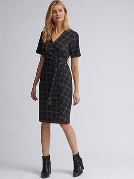 Dorothy Perkins Dorothy Perkins Dorothy Perkins Edit Check Dress- Black Picture