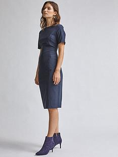 dorothy-perkins-contour-dress-navy
