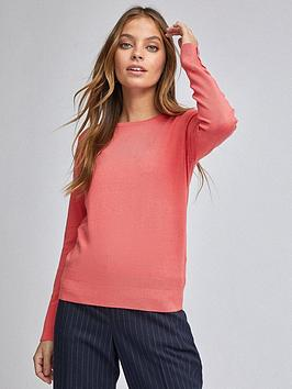 Dorothy Perkins Dorothy Perkins Petites Coral Button Cuff Jumper - Pink Picture