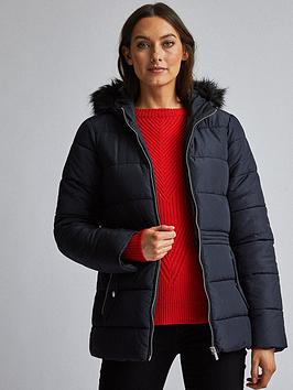 Dorothy Perkins Dorothy Perkins Short Padded Coat - Navy Picture