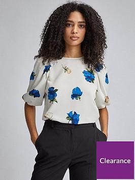 dorothy-perkins-floral-puff-sleeve-blouse-creamblue