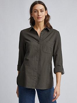Dorothy Perkins Dorothy Perkins Linen Shirt - Khaki Picture