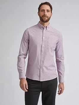 Burton Menswear London Burton Menswear London Fleurdelis Print Long Sleeve  ... Picture