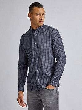 Burton Menswear London Burton Menswear London Ox Check Long Sleeve Shirt -  ... Picture