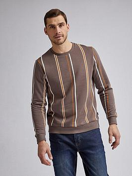 Burton Menswear London Burton Menswear London Vertical Stripe Crew Neck  ... Picture