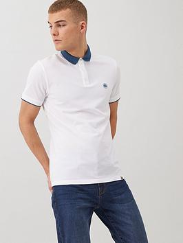Pretty Green Pretty Green Tadwick Pique Polo Shirt - White Picture