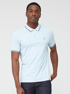 pretty-green-barton-tipped-collar-polo-shirt-blue