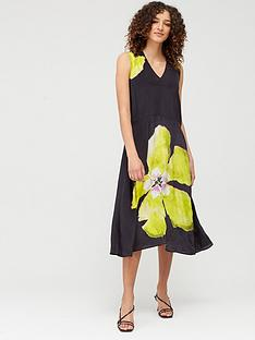 religion-neon-flower-symbol-dress-black