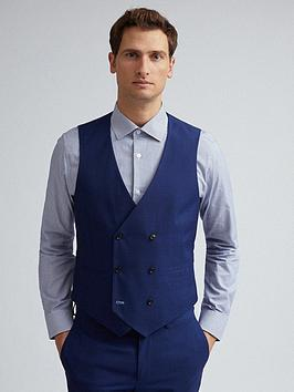 Burton Menswear London Burton Menswear London Skinny Fit Waistcoat - Navy Picture