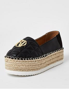River Island River Island River Island Chunky Espadrille Slip On Shoe -  ... Picture