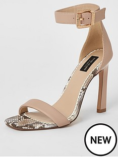 river-island-river-island-wide-fit-two-part-high-sandal-neutral
