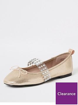 river-island-river-island-diamante-strap-ballet-shoe-gold