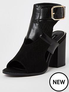 river-island-cut-out-shoe-boot-black