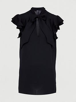 V by Very V By Very Pussybow Longline Tunic Blouse Picture