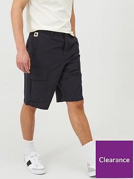 pretty-green-metal-cargo-shorts-navy
