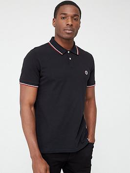 pretty-green-barton-tipped-collar-short-sleeve-polo-shirt-black