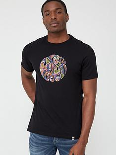 pretty-green-thornley-paisley-logo-short-sleeve-t-shirt-black