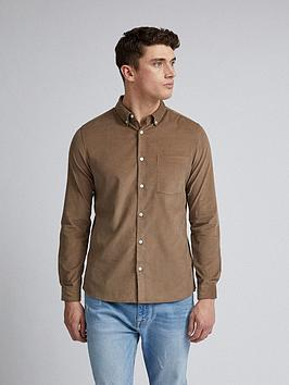 Burton Menswear London Burton Menswear London Cord Long Sleeve Shirt -  ... Picture