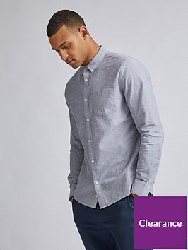 burton-menswear-london-split-scale-print-shirt-grey
