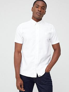 Pretty Green Pretty Green Sterling Short Sleeve Oxford Shirt - White Picture