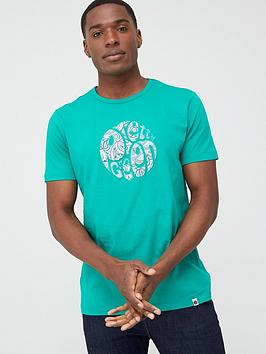 Pretty Green Pretty Green Marshall Paisley Large Logo T-Shirt - Green Picture