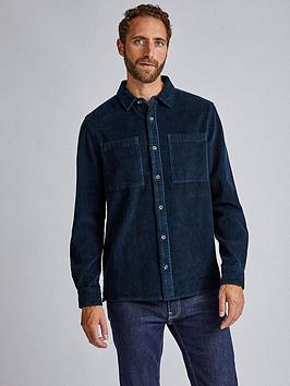 Burton Menswear London Burton Menswear London Cord Long Sleeve Shirt - Navy Picture