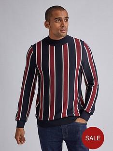 burton-menswear-london-pvertical-stripe-turtle-neck-jumper-navyredp