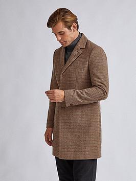Burton Menswear London Burton Menswear London Faux Mini Check Wool Coat -  ... Picture