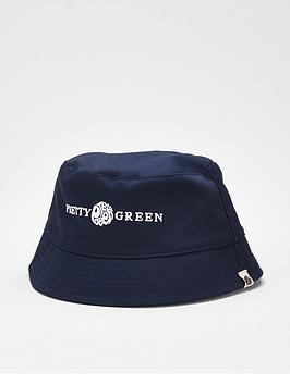 pretty-green-lincoln-logo-bucket-hat-navy